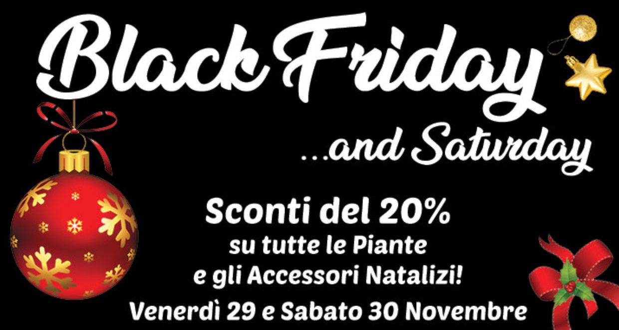 Black Friday…and saturday!